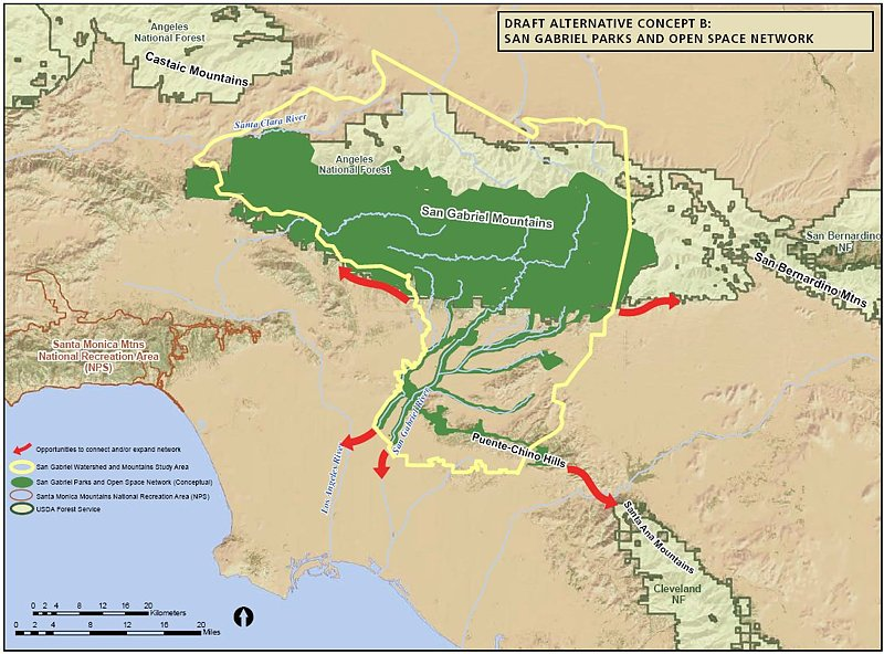 Report On The San Gabriel Watershed And Mountains Special - Us map san gabriels mountain range
