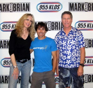 Cynthia Fox, Steve Messer & Mark Langton at KLOS