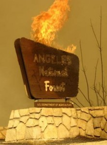 20110401-Station_Fire_sign_burning_3