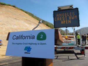 Angeles Crest Highway 2 opening