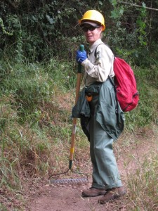 Angeles Mountain Patrol and CORBA Volunteer Robin McGuire