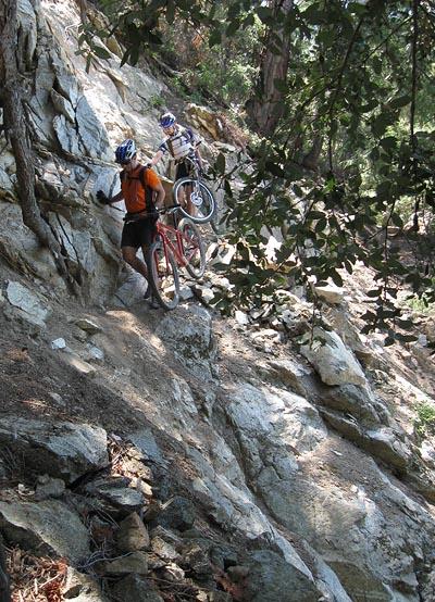 Rim Trail slide area