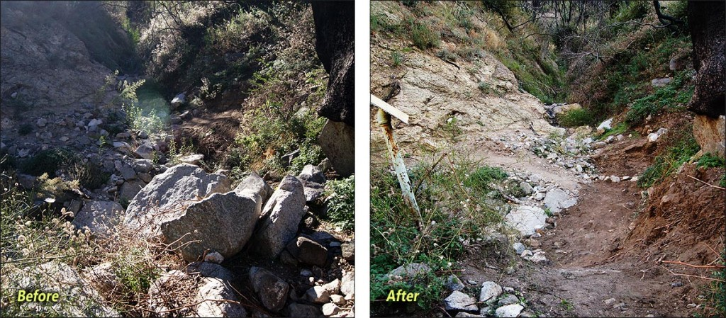 Gabrielino Trail before and after