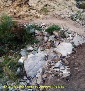 Extensive Rock work on Gabrielino