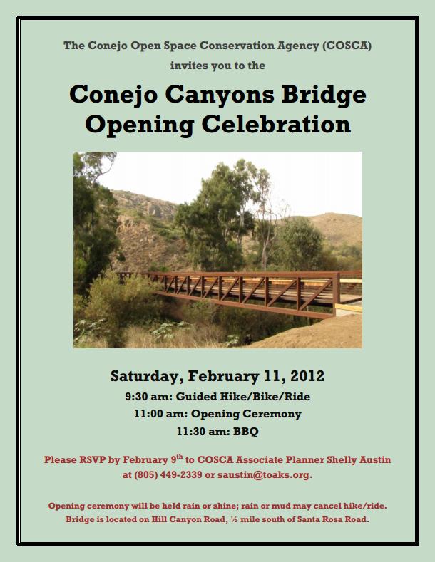 COSCA Brige Opening Invitation