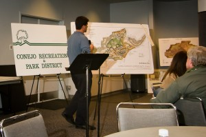 Parks officials show the abandoned plan
