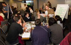 Facilitators seek public input from each table