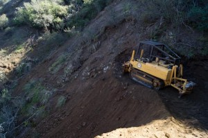Tapia Spur Re-Route being cut