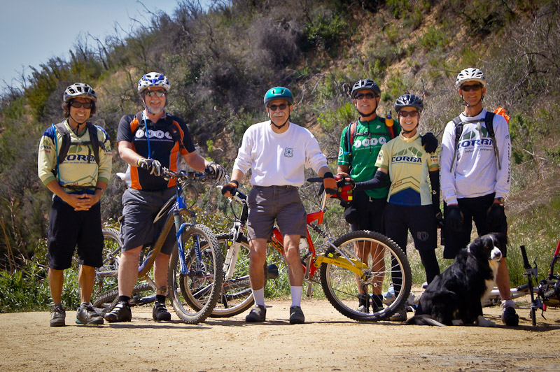 Steve Messer, Jim Hasenauer, Tom Contreras, Mike and Robin McGuire and Banner Moffat at Brown Mountain Saddle