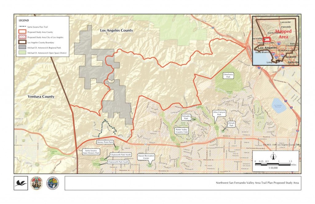 LA County NW San Fernando Trail Master Plan Study Area