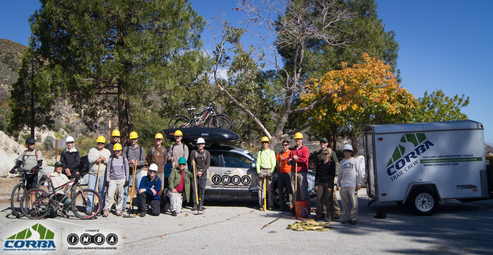 IMBA Trail Care Crew Visit with CORBA