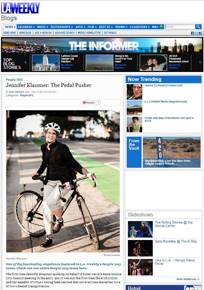 Jennifer Klausner, LA Weekly