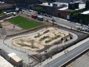 Havemeyer Park, a pop-up bike park facility in Brooklyn
