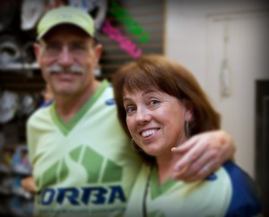 CORBA supporter Danusia with husband Don.