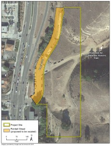 The hotel will be bounded by Las Virgenes Road to the West and the 101 Freeway to the north.