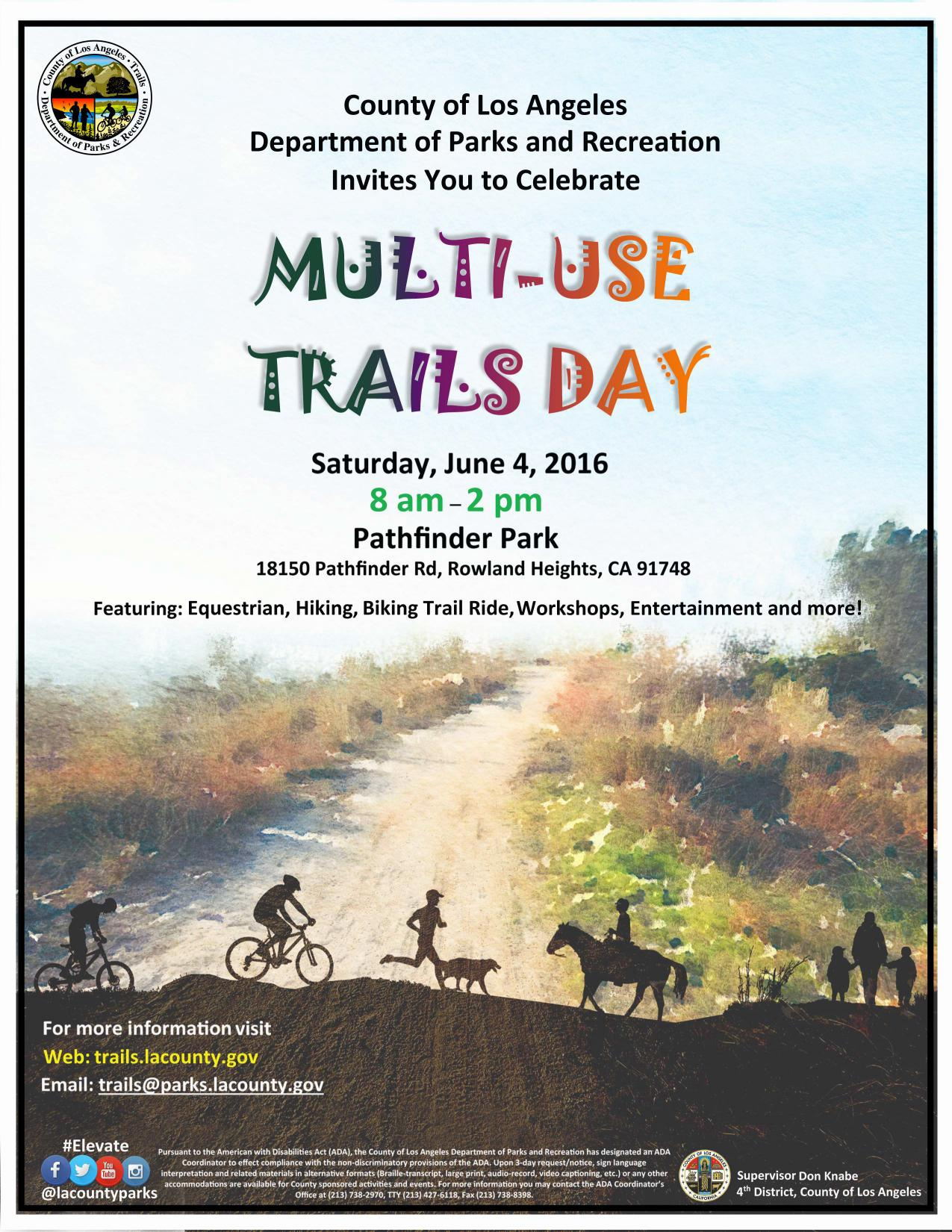 LA County 2016 Trails Day Flyer