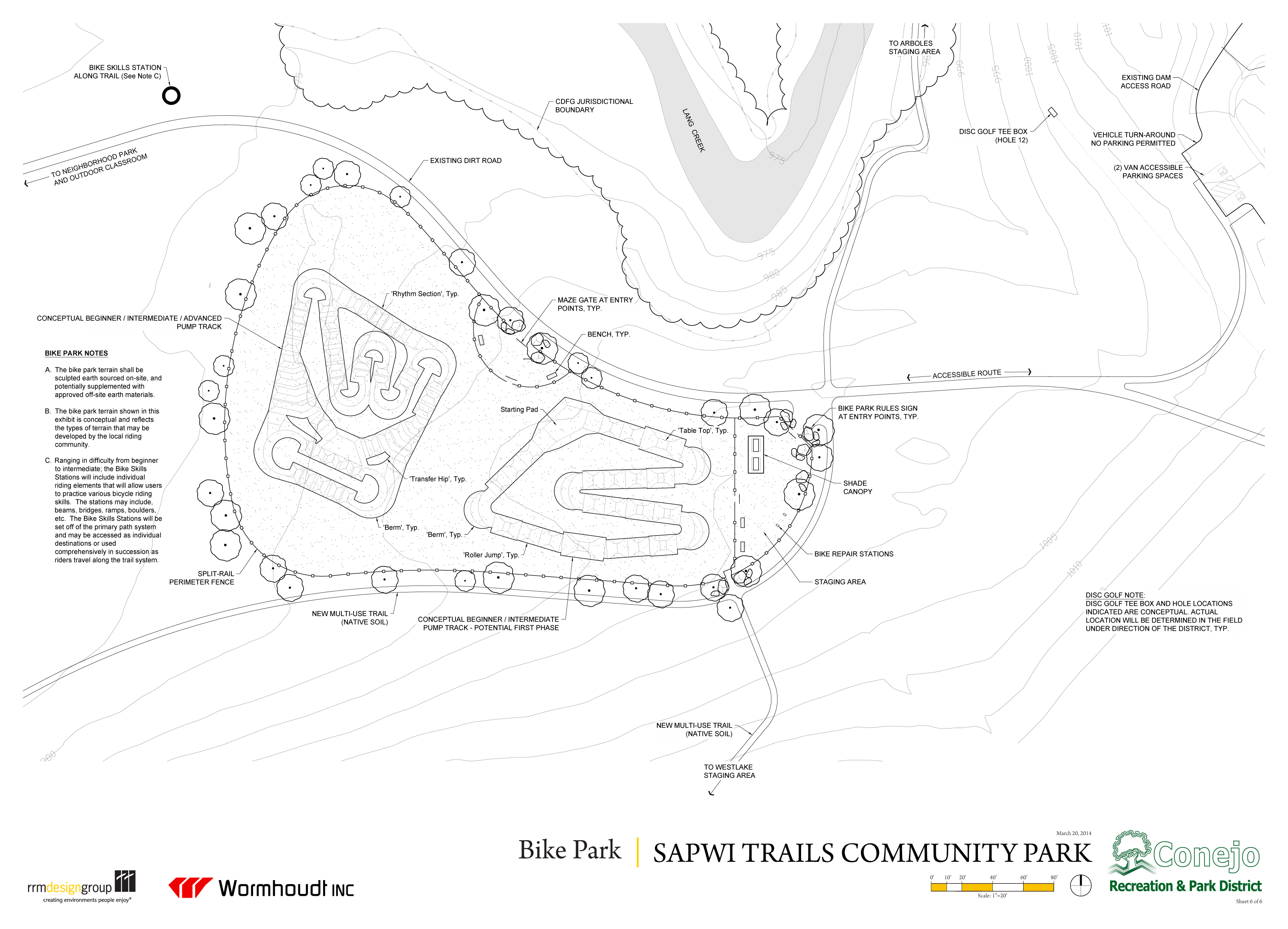 Sapwi Trails Conceptual Bike Park Plan THousand Oaks